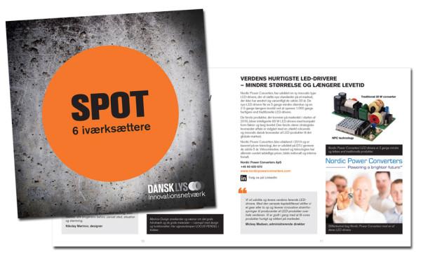 Layout af brochure for DANSK LYS