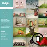 Origin WordPress skabelon er en kasse-baseret skabelon, der fortæller en historie gennem billeder. Perfekt til kunstnere eller bloggere.