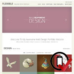 flexible WordPress skabelonen er en enkelt og elegant løsning til portfolio, da det fremhæver billeder.