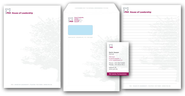 Nyt firma, mangler du måske både et logo , brevpapir, visitkort