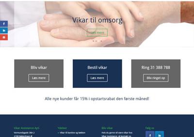 vikarassist.dk hjemmeside