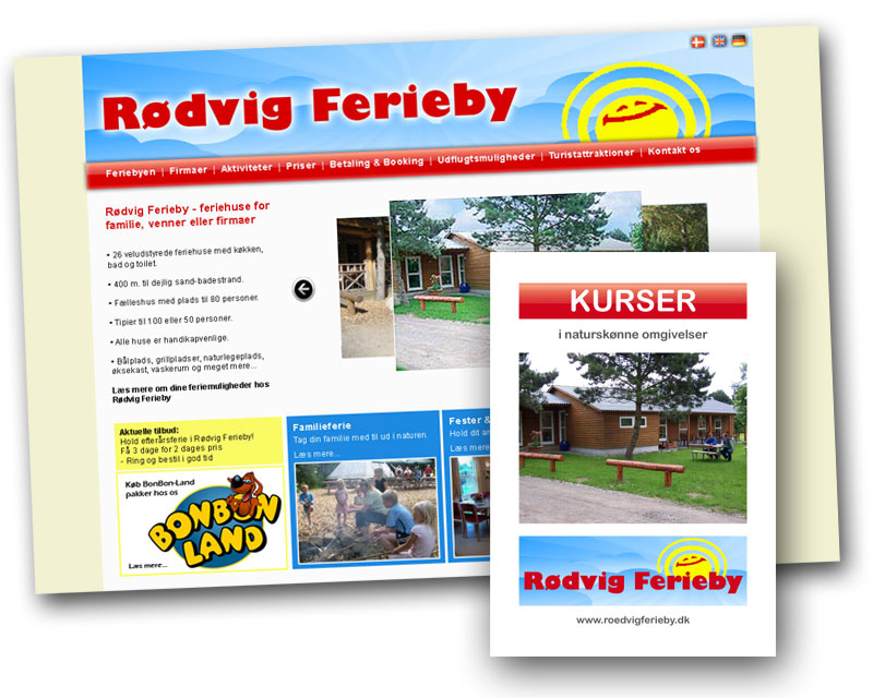 Rødvig Ferieby får ny hjemmeside og kursusfolder