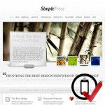 SimplePress Wordpress skabelon - til den professionelle virksomhed