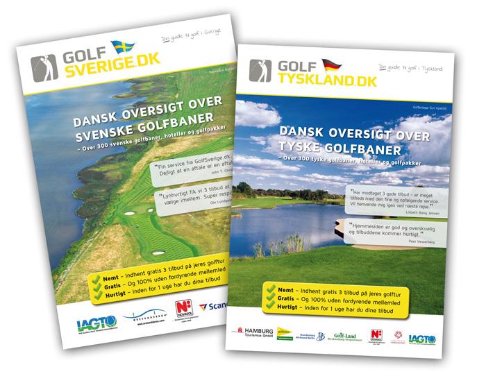 Brochure på 2 sprog til GolfSverige og GolfTyskland