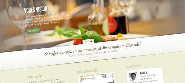 Mangler din restaurant eller café en hjemmeside?
