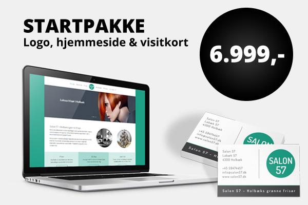 Startpakke - logo, hjemmeside & visitkort for 6.999 kr. ex. moms