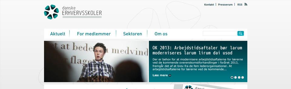Webdesign og nyhedsbreve til Danske Erhvervsskoler