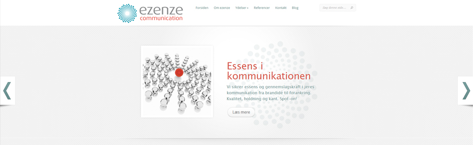 Hjemmeside til ezenze communication