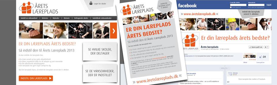 Årets læreplads logo, hjemmeside, plakat og sociale medier