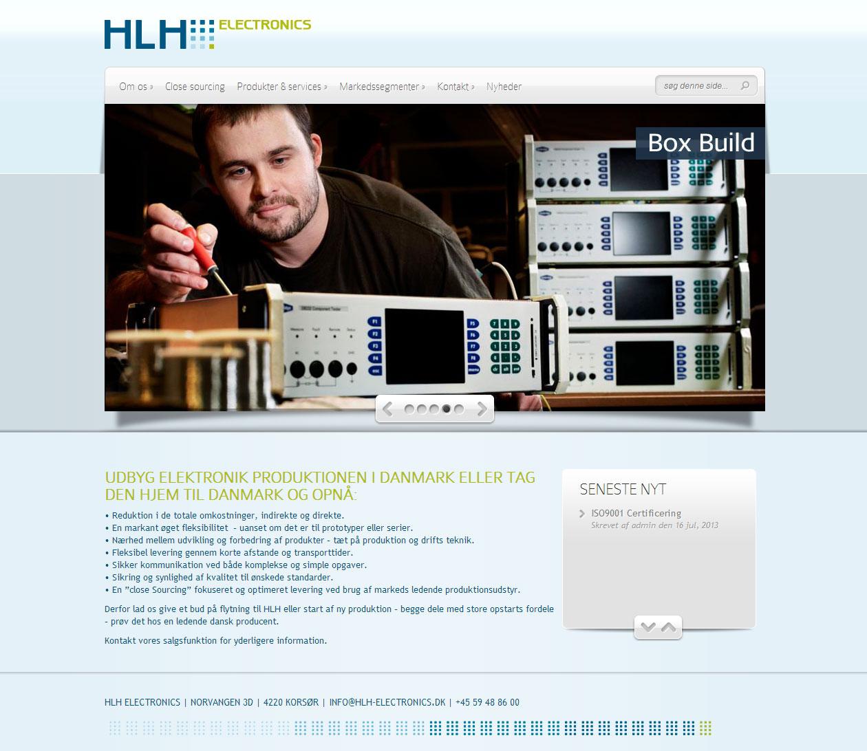 Ny hjemmeside til HLH Electronics