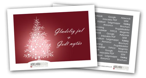 julekort med eget design/logo