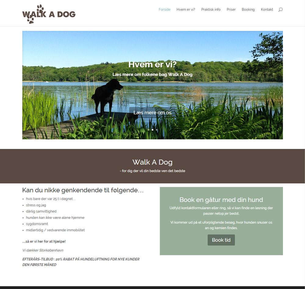 Walk A Dog hjemmeside
