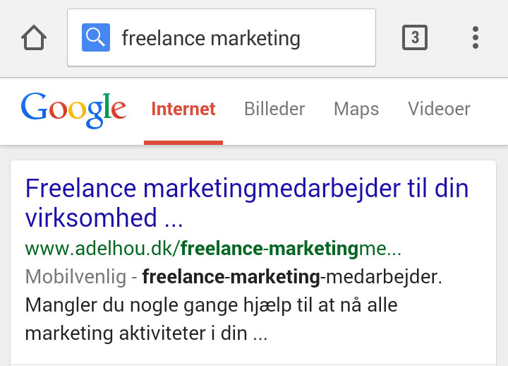 Google's mobilvenlige etiket indført i Danmark