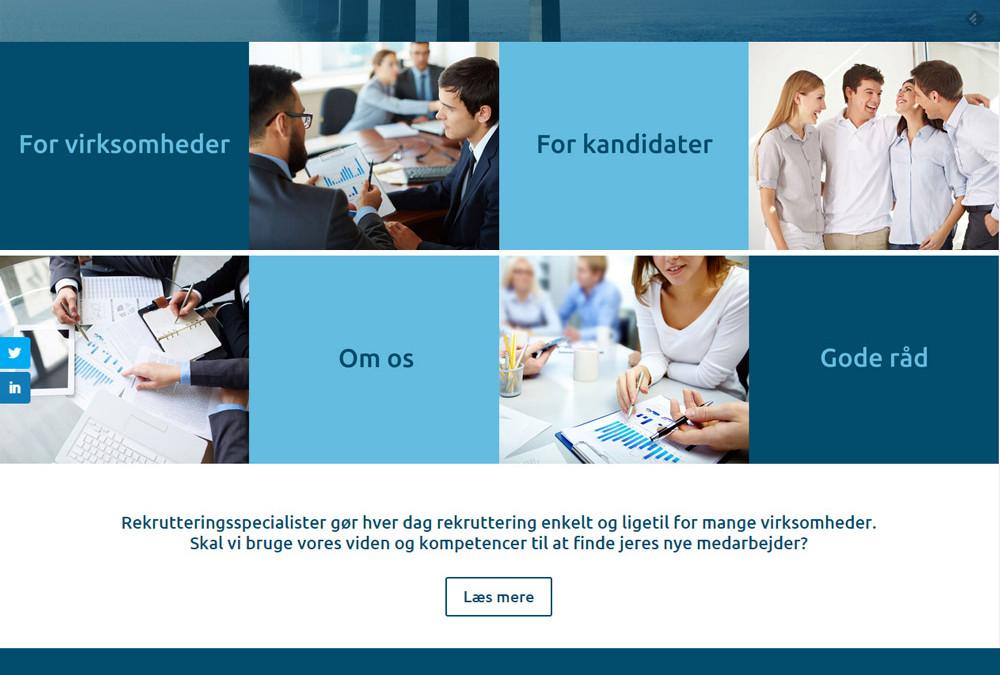Logo og hjemmeside til Rekrutteringsspecialisterne