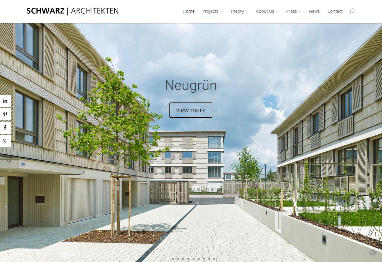 Forsiden af schwarz-architekten.com