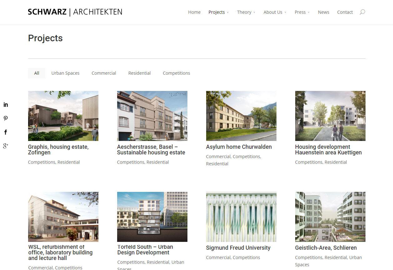 Projektoversigt på schwarz-architekten.com