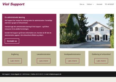 ViolSupport.dk WordPress hjemmeside