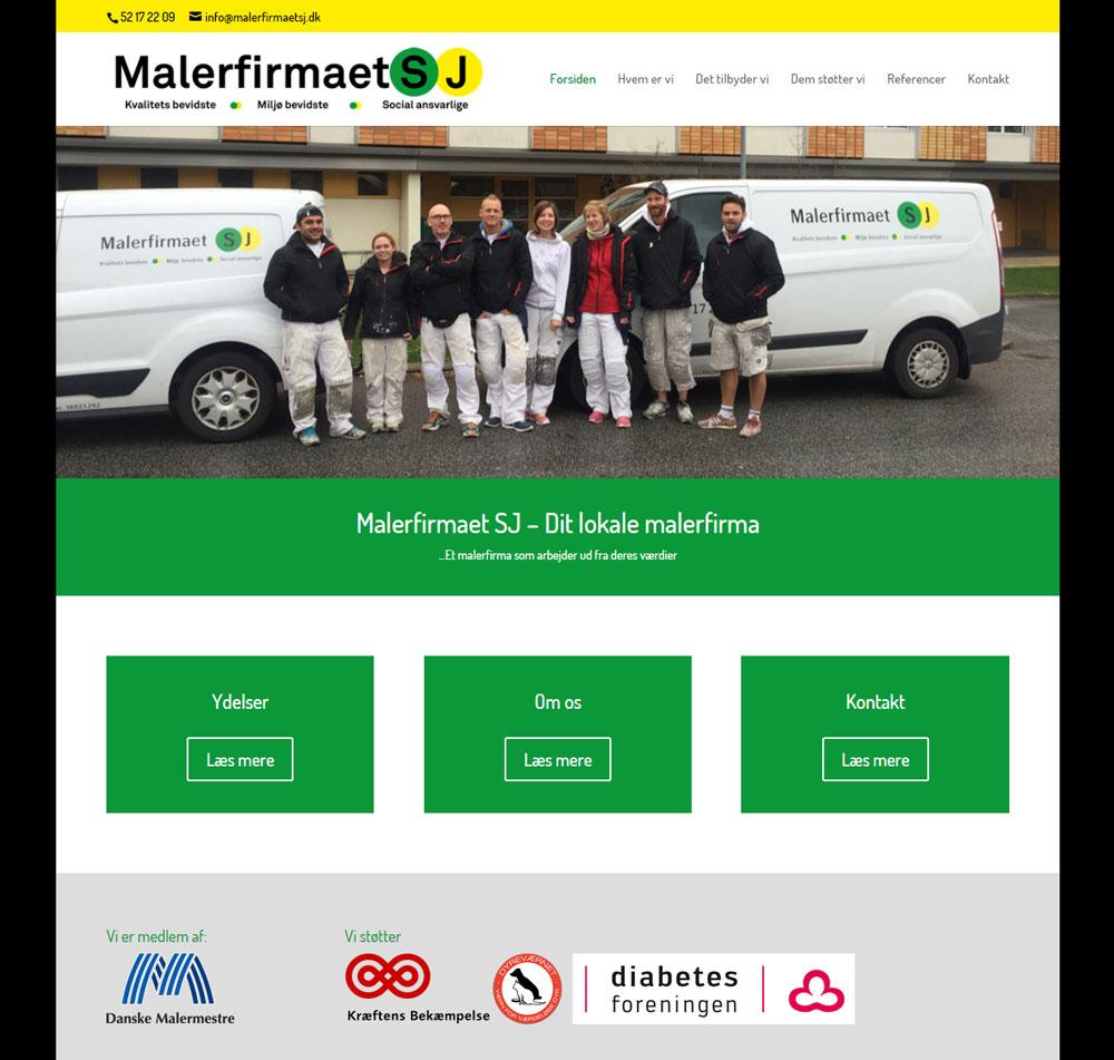 malerfirmaetSJ.dk WordPress hjemmeside