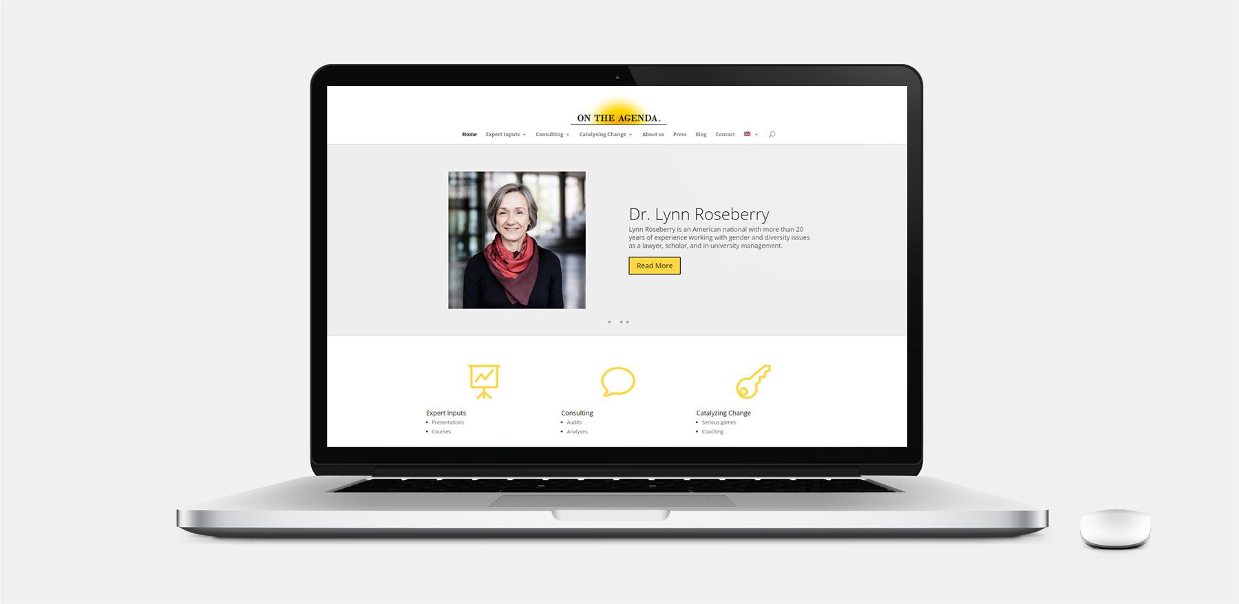WordPress hjemmeside til OnTheAgenda.eu