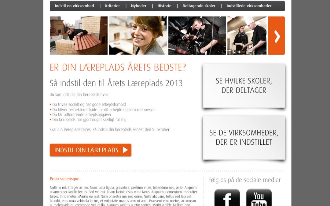 Årets læreplads logo, hjemmeside mv.