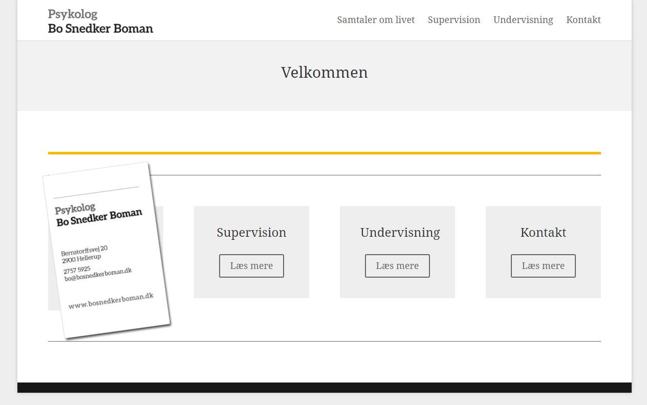 Startpakke til psykolog Bo Snedker Boman