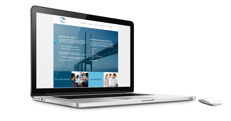 Hjemmeside til Rekrutteringsspecialisterne