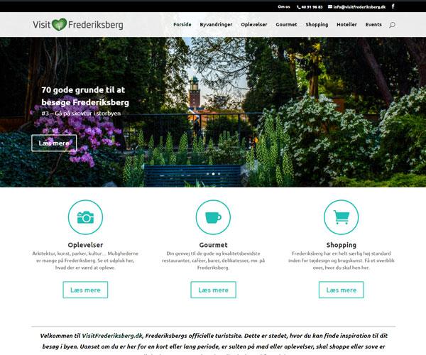 VisitFrederiksberg.dk WordPress hjemmeside