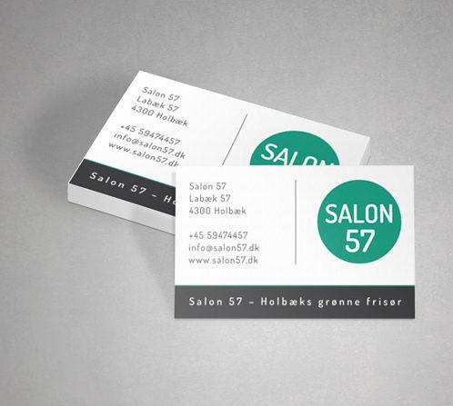 SALON 57 visitkort