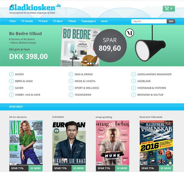 Bladkioskens nye hjemmeside