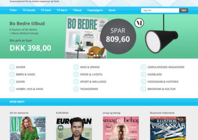 Mobilvenligt webdesign til Bladkiosken.dk
