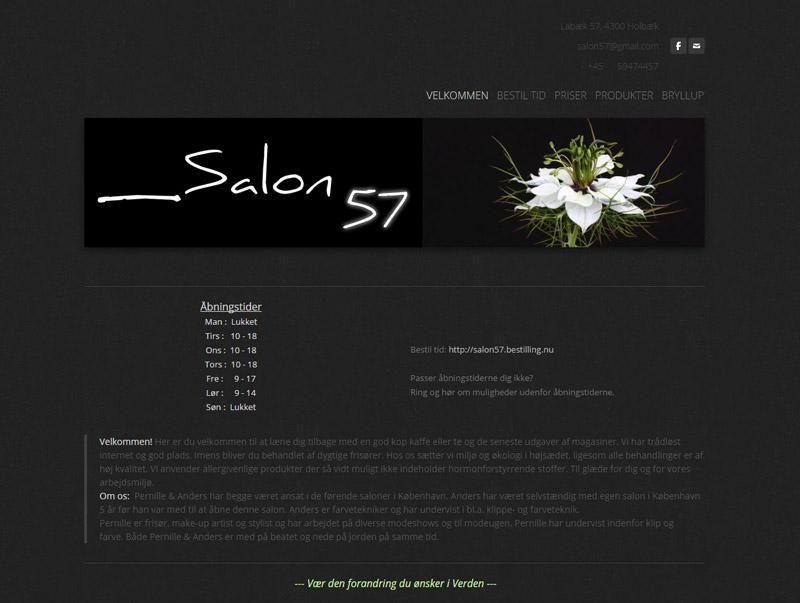 Salon 57's gamle hjemmeside