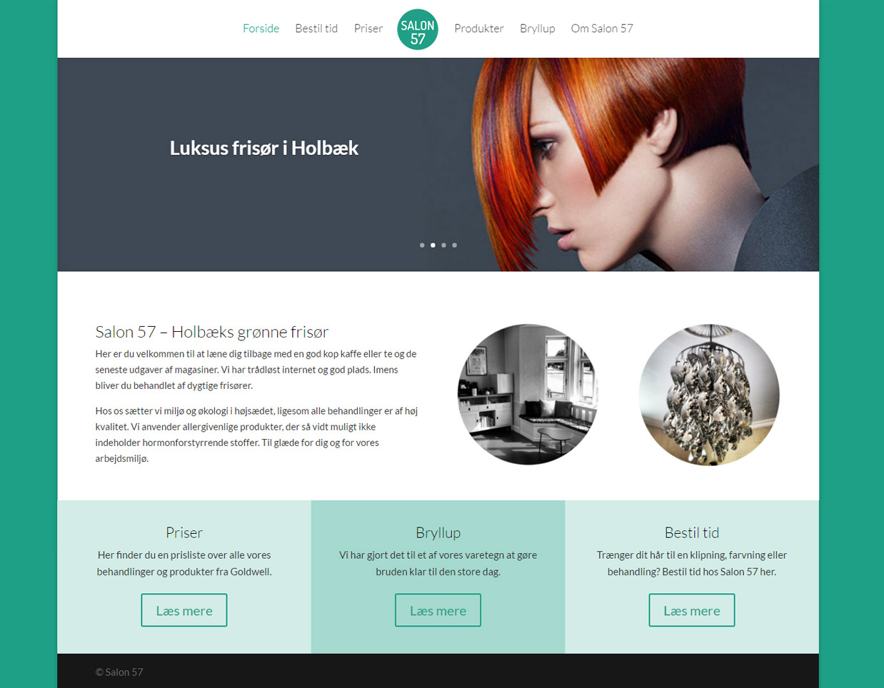 Salon 57's nye hjemmeside