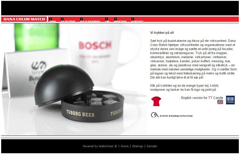 Gammel dana color match hjemmeside