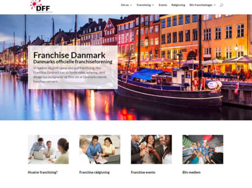 FranchiseDanmark.org WordPress hjemmeside