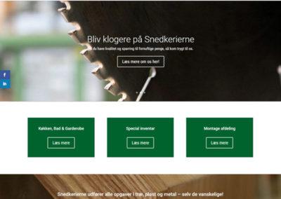 snedkerierne.dk WordPress hjemmeside