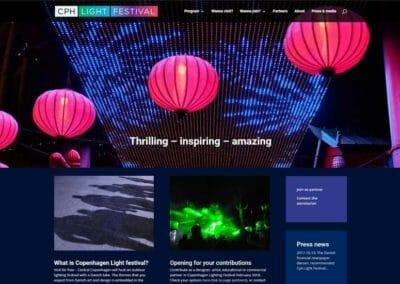 CPH Light Festival Divi hjemmeside