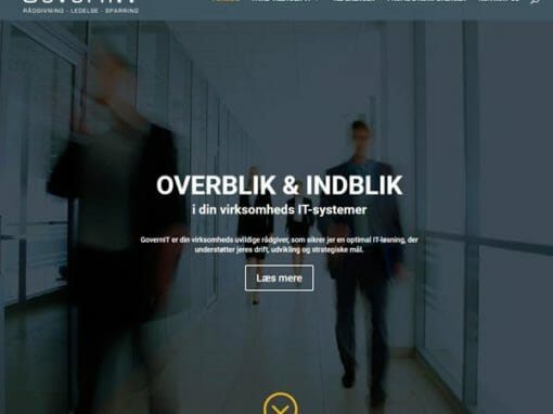 GovernIT.dk WordPress hjemmeside