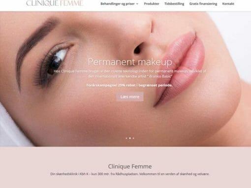 CliniqueFemme.dk WordPress hjemmeside