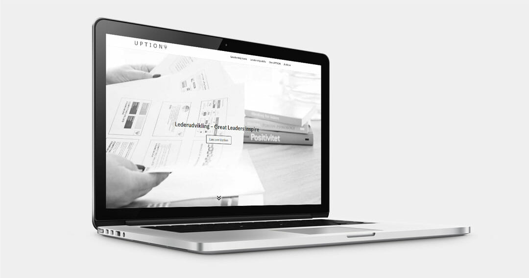 Nyt design til uption.dk WordPress hjemmeside