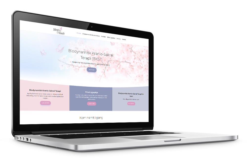 WordPress hjemmeside til behandlingsfirmaet silenttouch.dk
