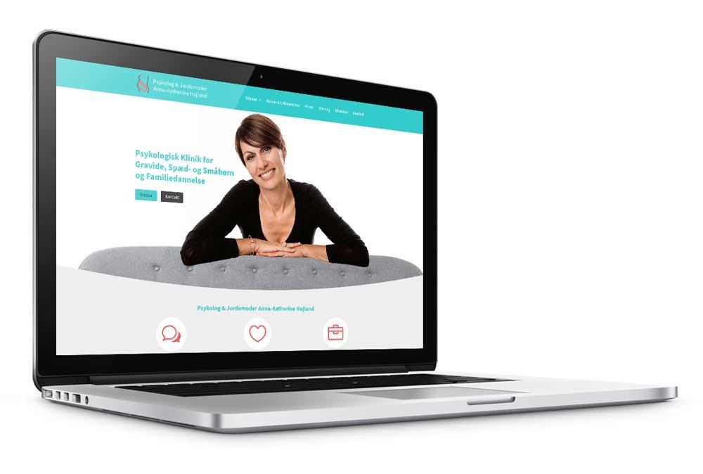 WordPress hjemmeside til Psykolog & Jordemoder Anna-Katherine Højland