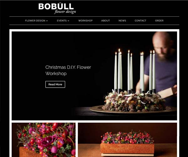 Forside skabelon til BoBull.com