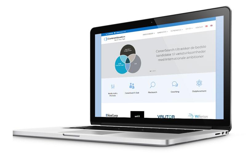 WordPress hjemmeside til CareerSearch.dk