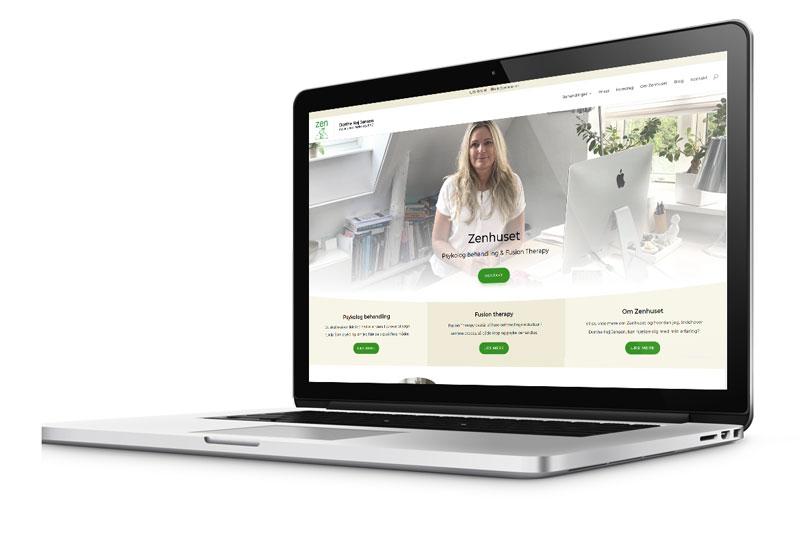 Ny hjemmeside til Zenhuset v/ Psykolog Dorthe Høj Jensen