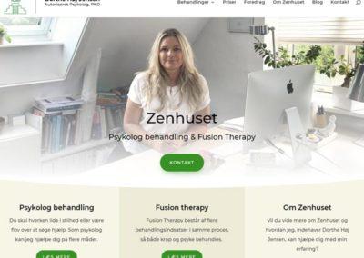 Zenhuset.dk WordPress hjemmeside